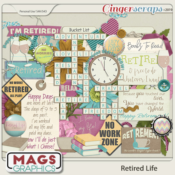 Retired Life ELEMENTS by MagsGraphics