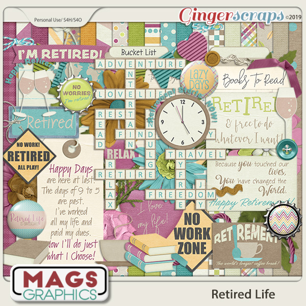 Retired Life KIT by MagsGraphics