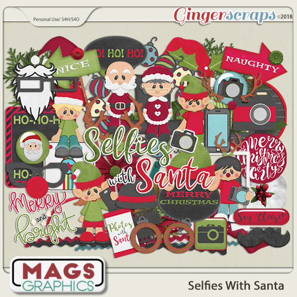 Selfies With Santa ELEMENTS by MagsGraphics
