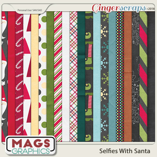 Selfies With Santa PAPERS by MagsGraphics