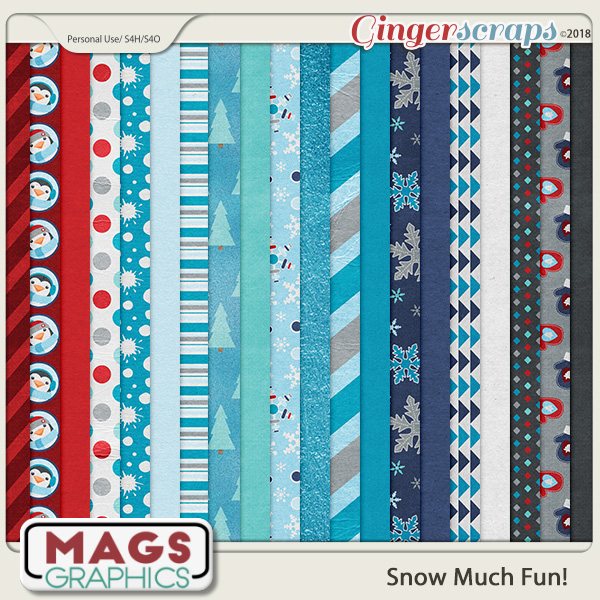Snow Much Fun PAPERS by MagsGraphics