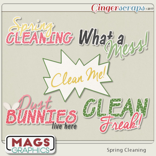 Spring Cleaning WORD ART by MagsGraphics