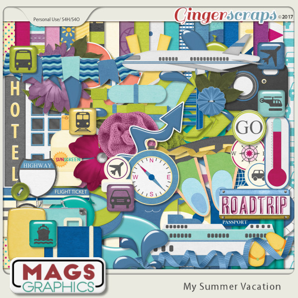 My Summer Vacation KIT by MagsGraphics