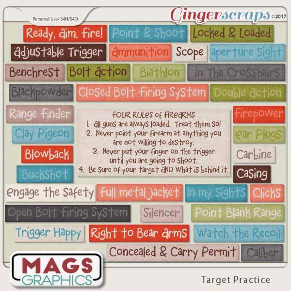 Target Practice WORD TAGS by MagsGraphics