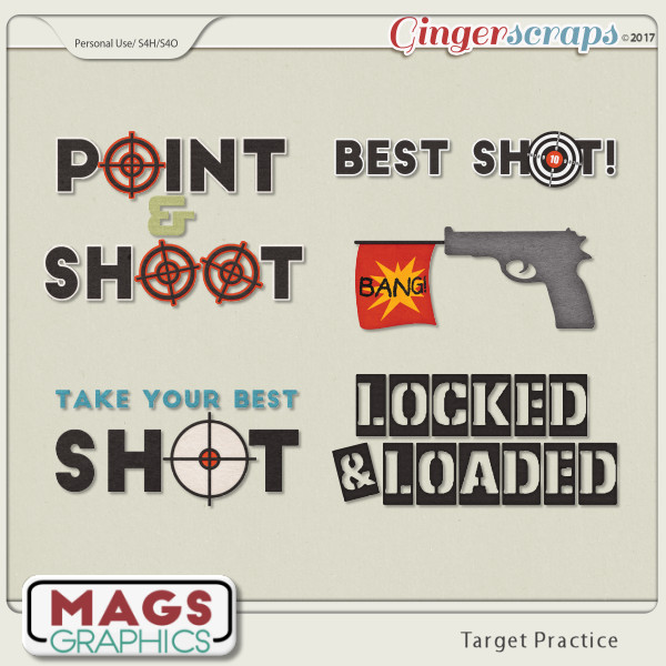 Target Practice WORD ART by MagsGraphics