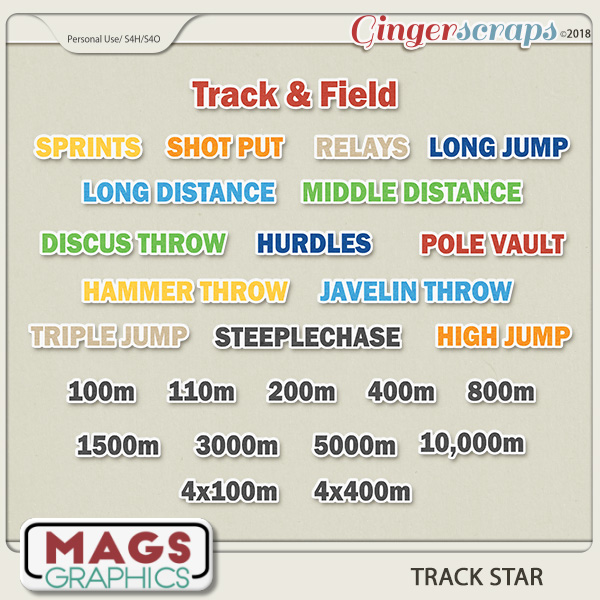 Track Star EVENT TAGS by MagsGraphics