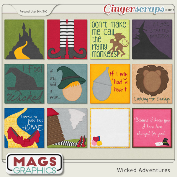Wicked Adventures JOURNAL CARDS by MagsGraphics
