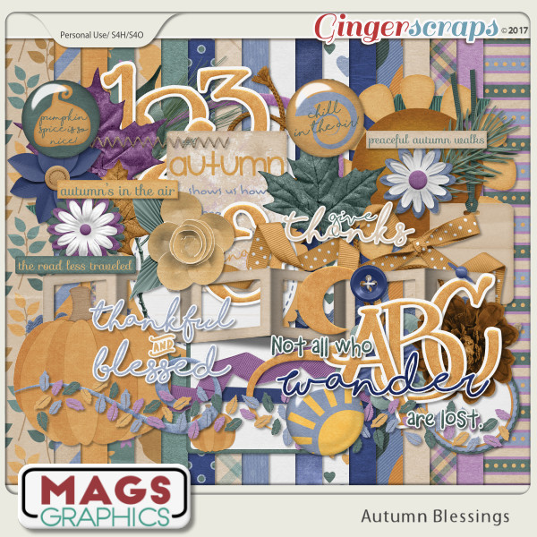 Autumn Blessings KIT + ALPHA by MagsGraphics