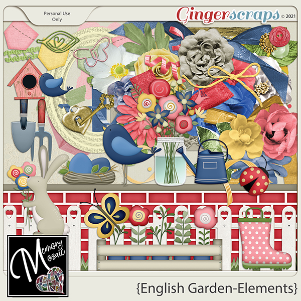 English Garden-Elements by Memory Mosaic
