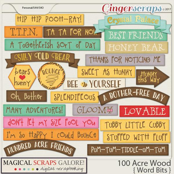 100 Acre Wood (word bits)