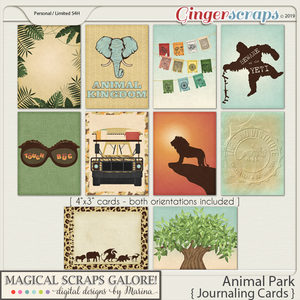 Animal Park (journaling cards)