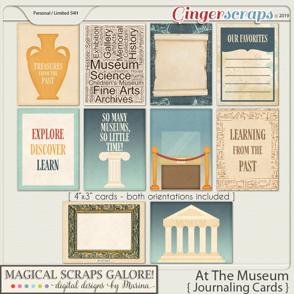 At The Museum (journaling cards)