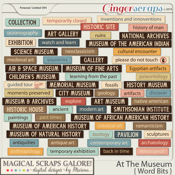 At The Museum (word bits)