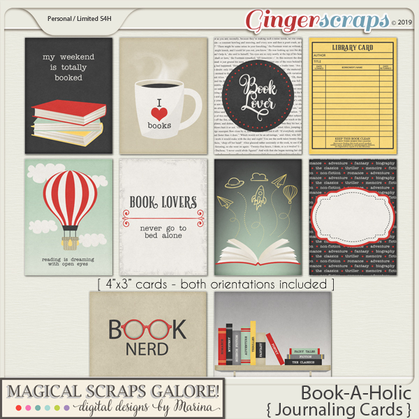 Book-A-Holic (journaling cards)