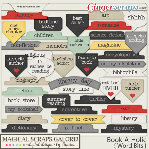 Book-A-Holic (word bits)