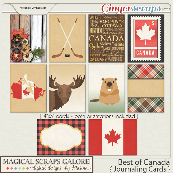 Best of Canada (journaling cards)