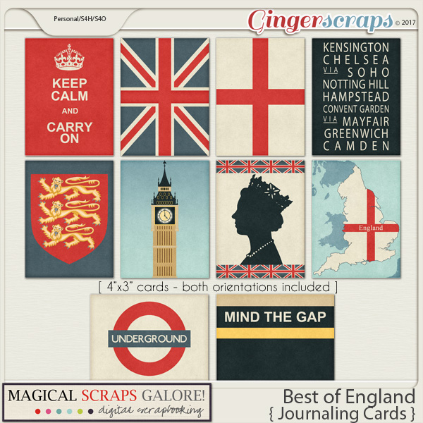 Best of England (journaling cards)