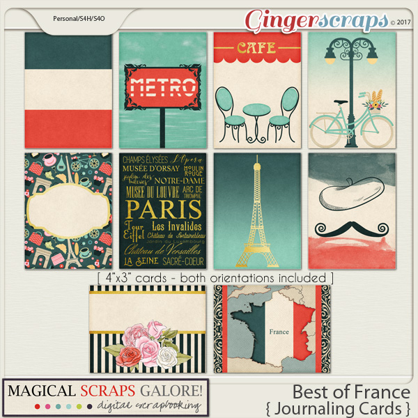 Best of France (journaling cards)