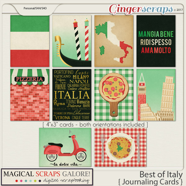 Best of Italy (journaling cards)