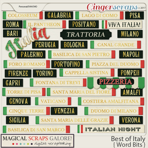 Best of Italy (word bits)