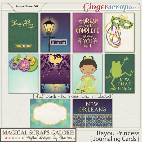Bayou Princess (journaling cards)