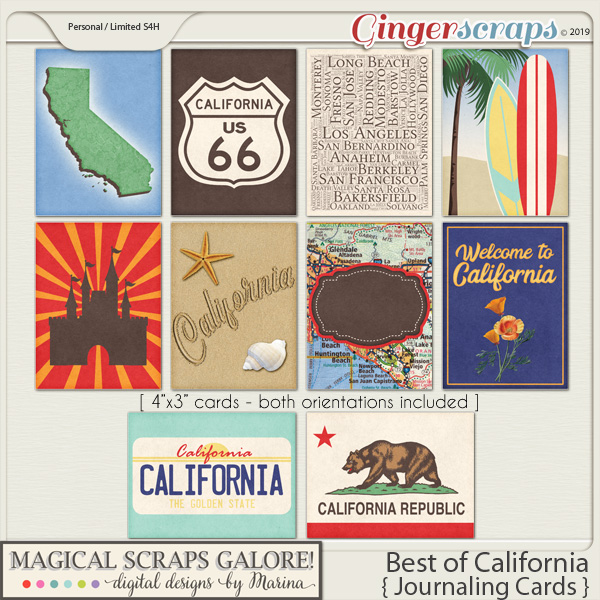 Best of California (journaling cards)