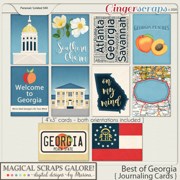 Best of Georgia (journaling cards)