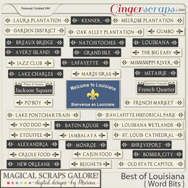 Best of Louisiana (word bits)