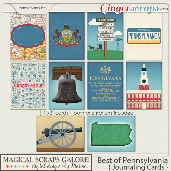 Best of Pennsylvania (journaling cards)