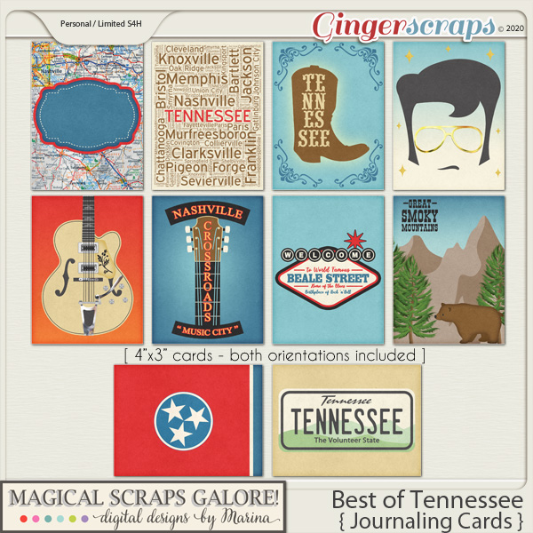 Best of Tennessee (journaling cards)