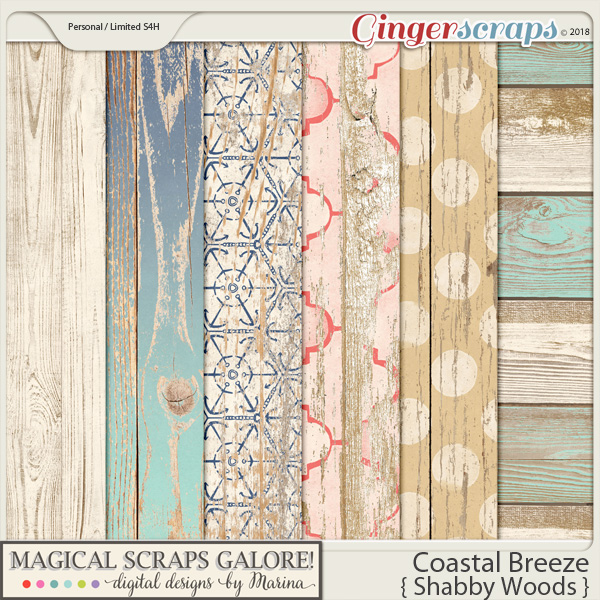 Coastal Breeze (shabby barnwood papers)