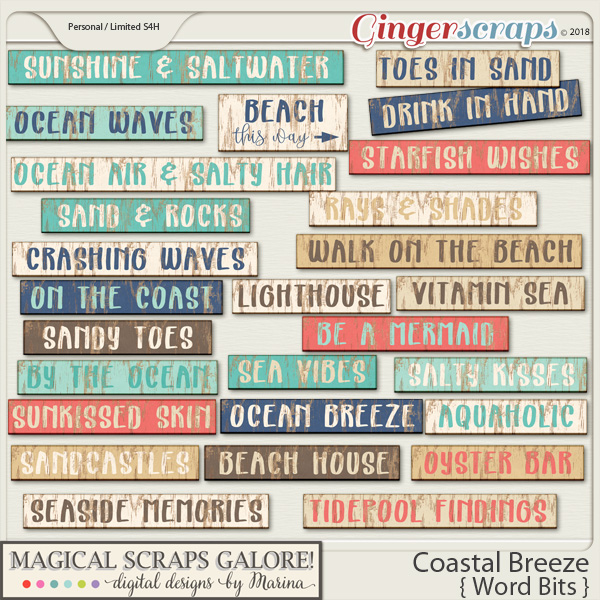 Coastal Breeze (word bits)