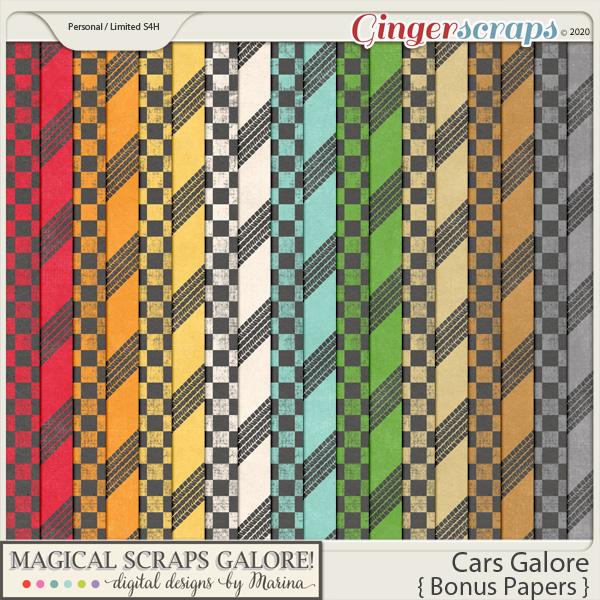 Cars Galore (bonus papers)