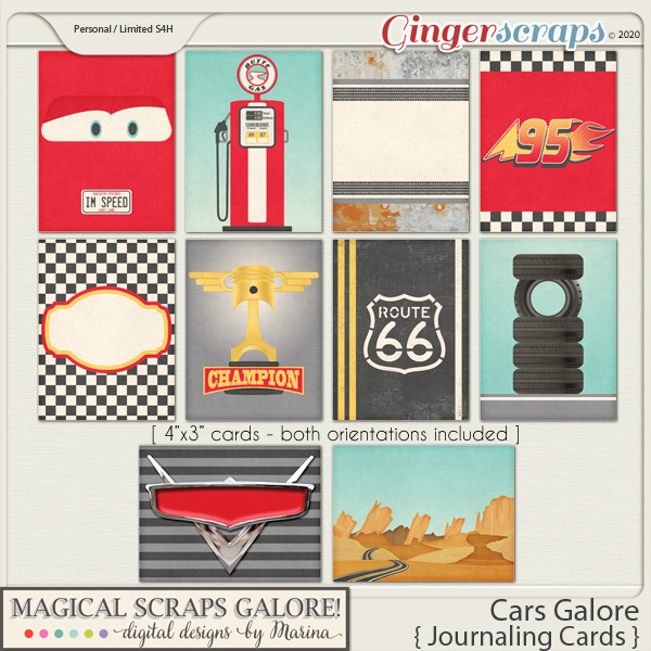 Cars Galore (journaling cards)