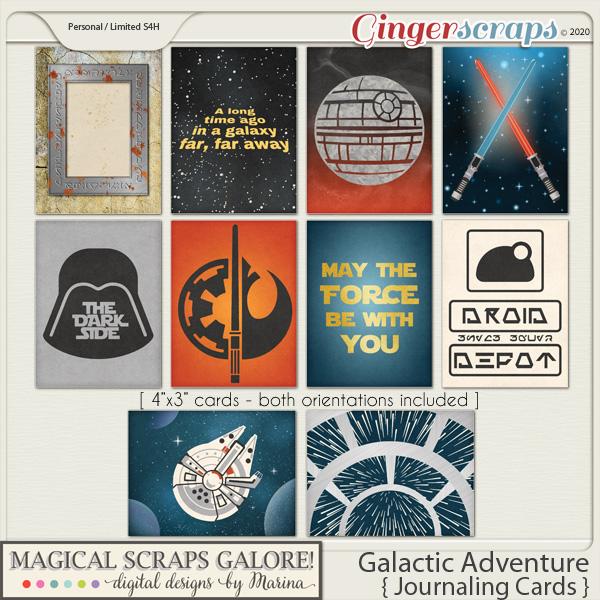 Galactic Adventure (journaling cards)