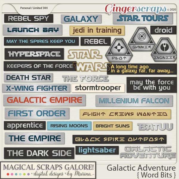 Galactic Adventure (word bits)