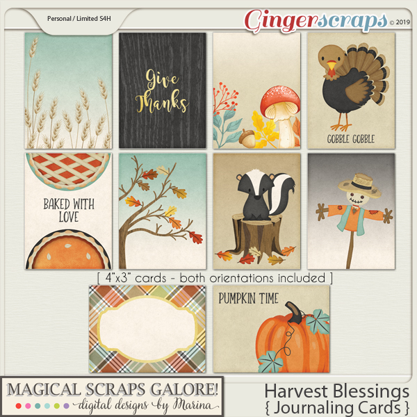 Harvest Blessings (journaling cards)