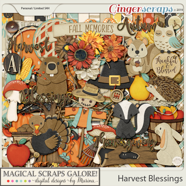 Harvest Blessings (page kit)