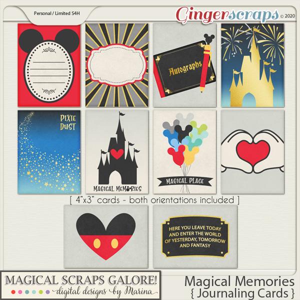 Magical Memories (journaling cards)