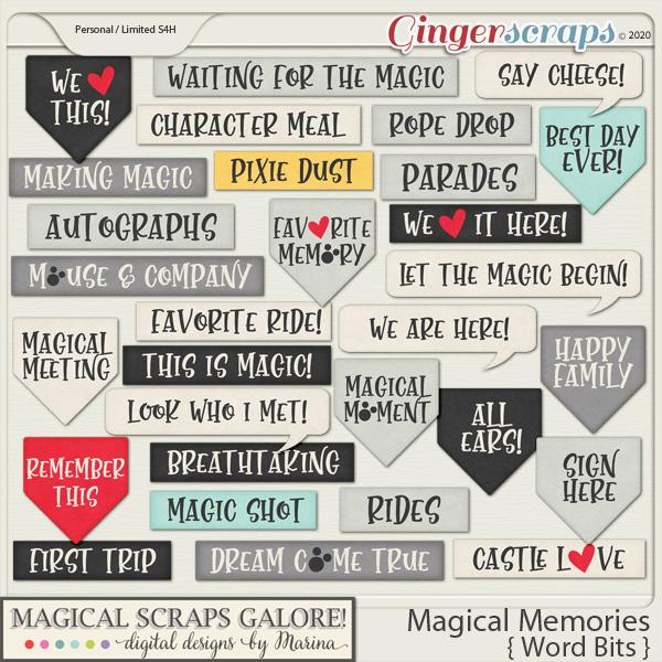 Magical Memories (word bits)
