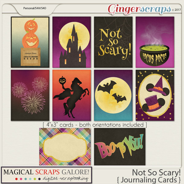 Not So Scary! (journaling cards)