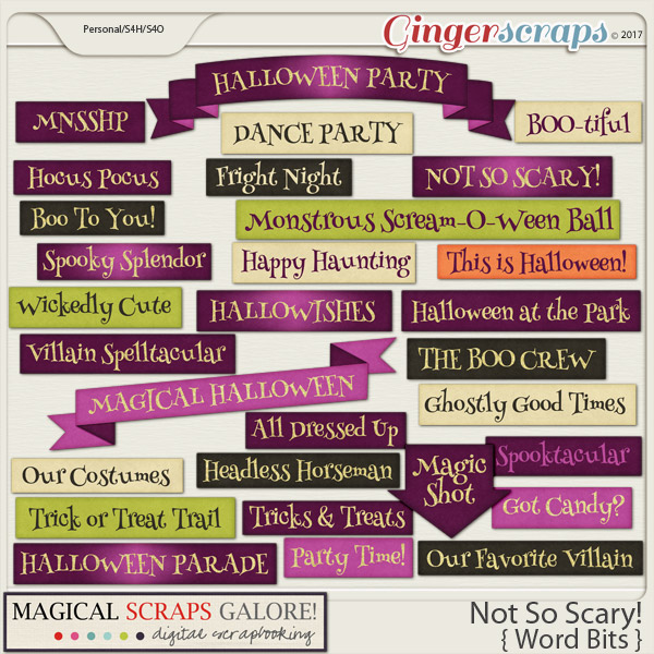 Not So Scary! (word bits)