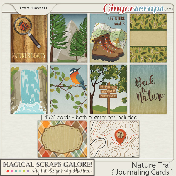 Nature Trail (journaling cards)