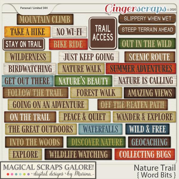 Nature Trail (word bits)
