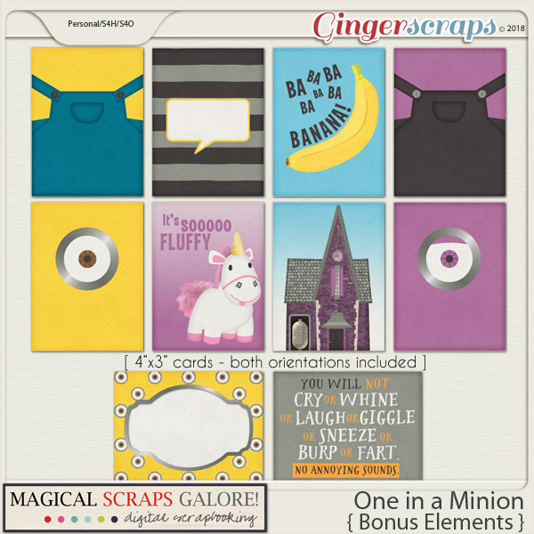 One in a Minion (journaling cards)