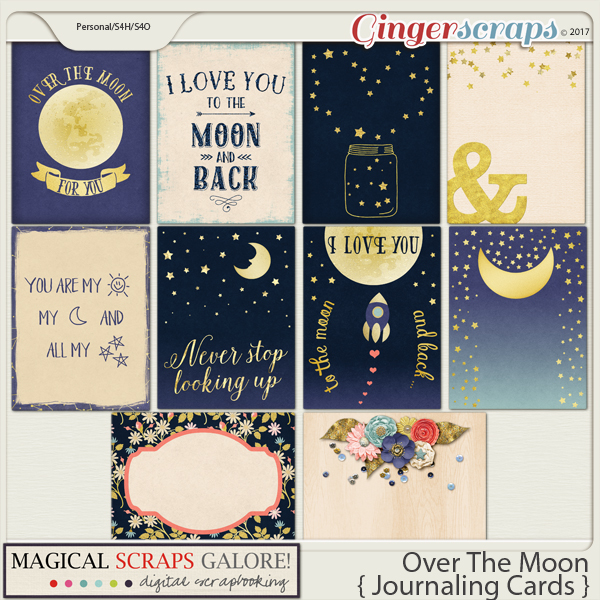 Over The Moon (journaling cards)