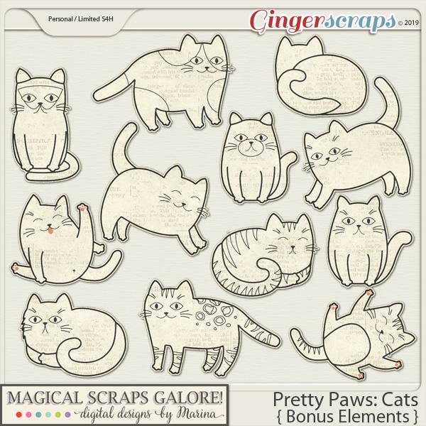Pretty Paws: Cats (bonus elements)