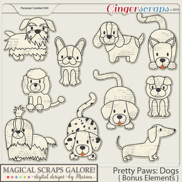 Pretty Paws: Dogs (bonus elements)