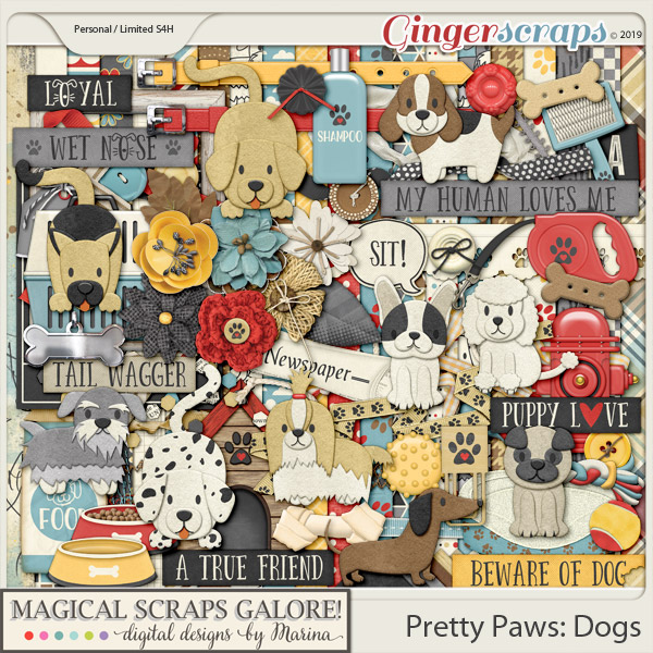 Pretty Paws: Dogs (page kit)