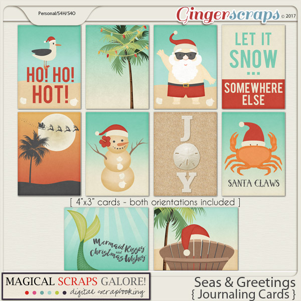 Seas & Greetings (journaling cards)